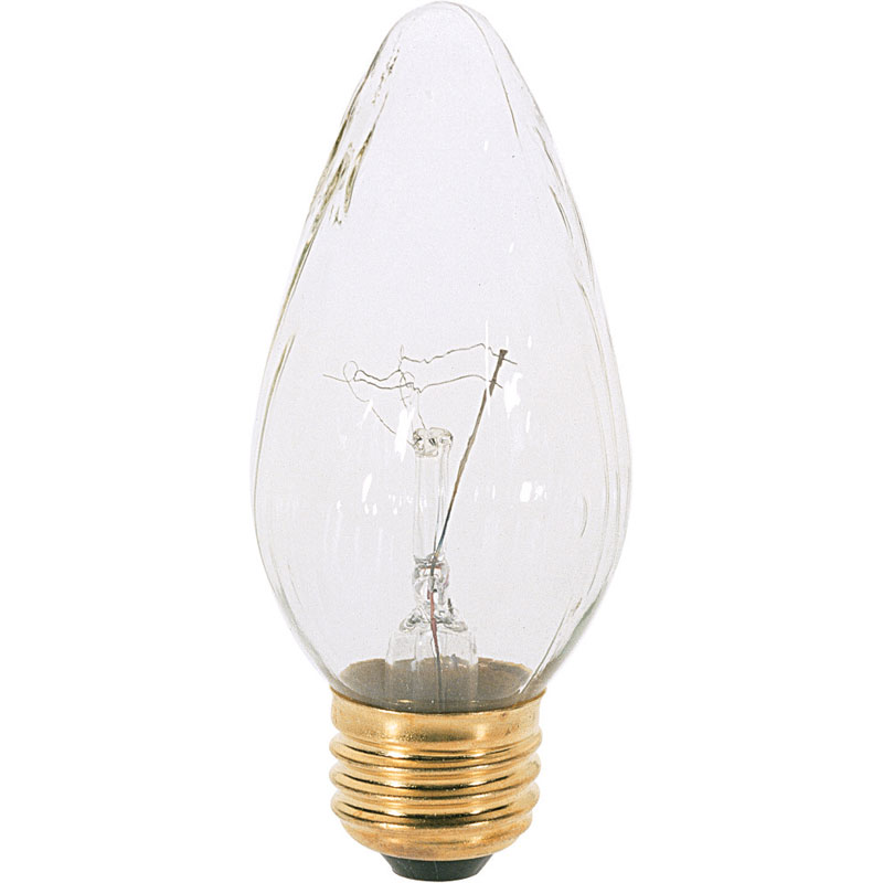 GE 40W Clear Flame Light Bulb