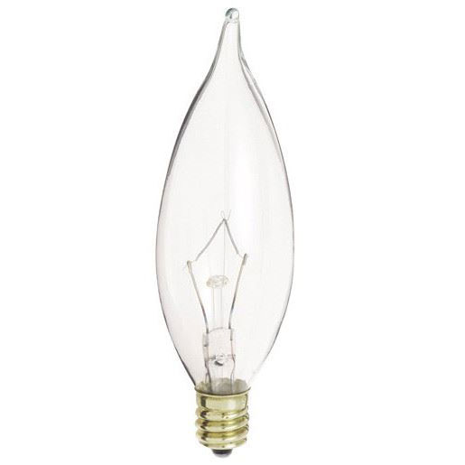 Clear 60W Bent Tip Decorative Bulbs