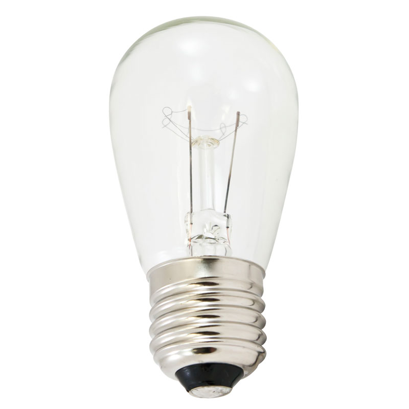 Clear S14 Mediume Base Light Bulbs
