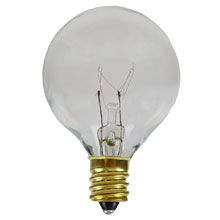 Indoor/Outdoor Candelabra Base Lantern Strand Replacement Light Bulbs - Clear - 25 Pack
