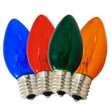 Transparent Multi-Color C9 Stringlight Bulbs