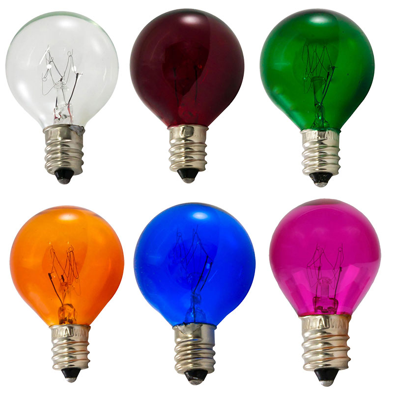 Multi Color Light Bulb Variety Pack - 10 Watt Candelabra Base - 25 Pack B10C-MULTI-PK