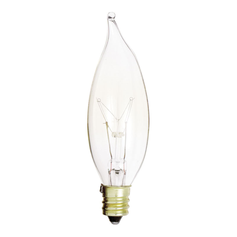 Clear CA8 Decorative Light Bulb w/ Bent Tip - 15W - 2 Pack 560979