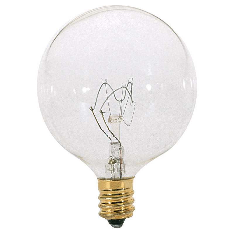 Dimmable G16.5 Globe Light Bulb, Clear - 60W - 2 Pack 529125