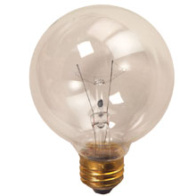 "25W 4.5"" Medium Base Decorative Globe Light Bulb"