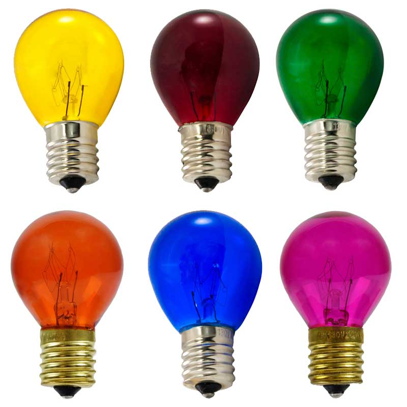 Multi Color Light Bulb Variety Pack   10 Watt S11 Intermediate Base   25  Pack