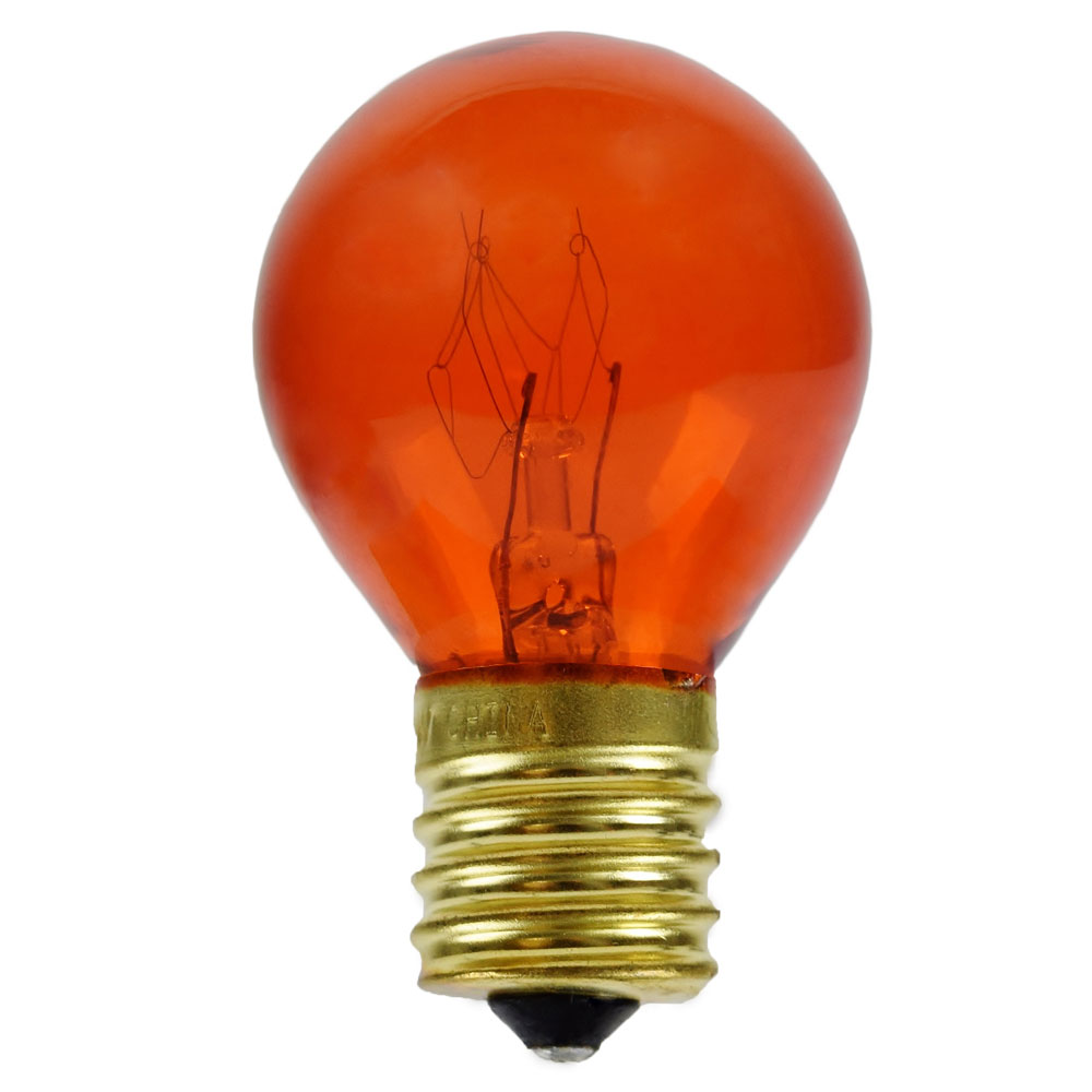 Orange Light Bulbs 10 Watt S11 Intermediate Base