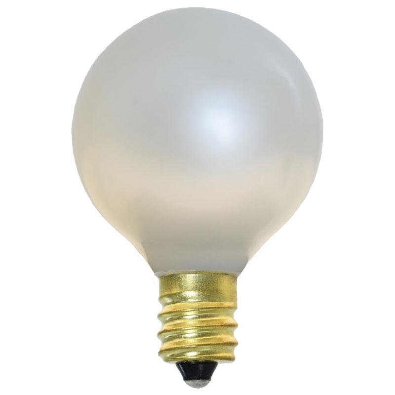 Pearl White Candelabra Base Light Bulbs 25 Pack