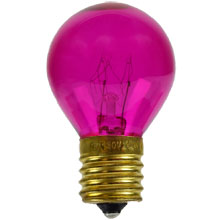 Pink Light Bulbs 10 Watt S11 Intermediate Base - 25 Pack B10S11-PI-PK