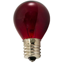 Red Intermediate Base Light Bulbs - 25 Pack