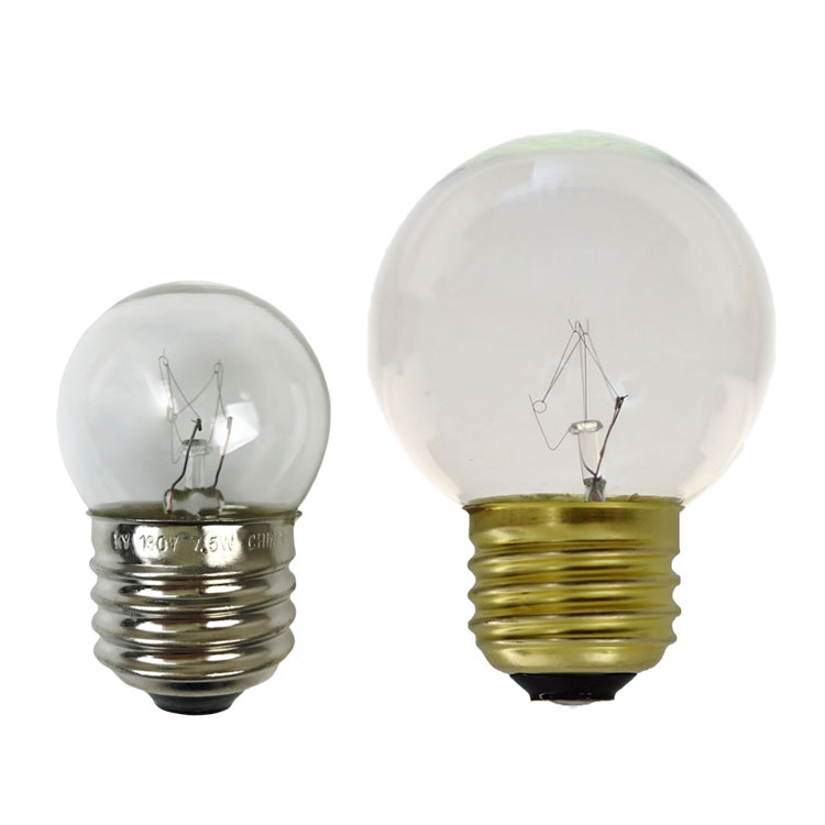 clear white S11 medium base light bulb