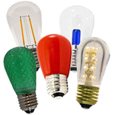 Clear & Colored S14 LED Light Bulbs
