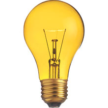 Yellow 25W Medium Decorative Light Bulb