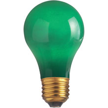 25W A19 Decorative Party Light Bulb - Green
