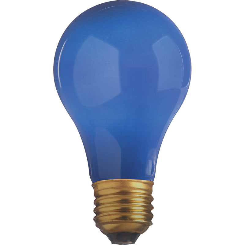 25W A19 Decorative Party Light Bulb - Blue