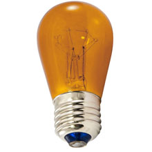 Amber 11 Watt Light Bulbs