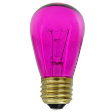 Transparent Pink Light Bulbs