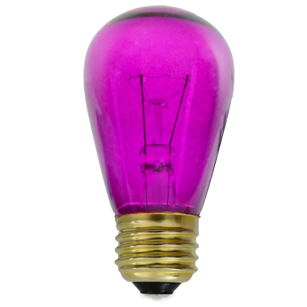 Transparent Purple Light Bulbs