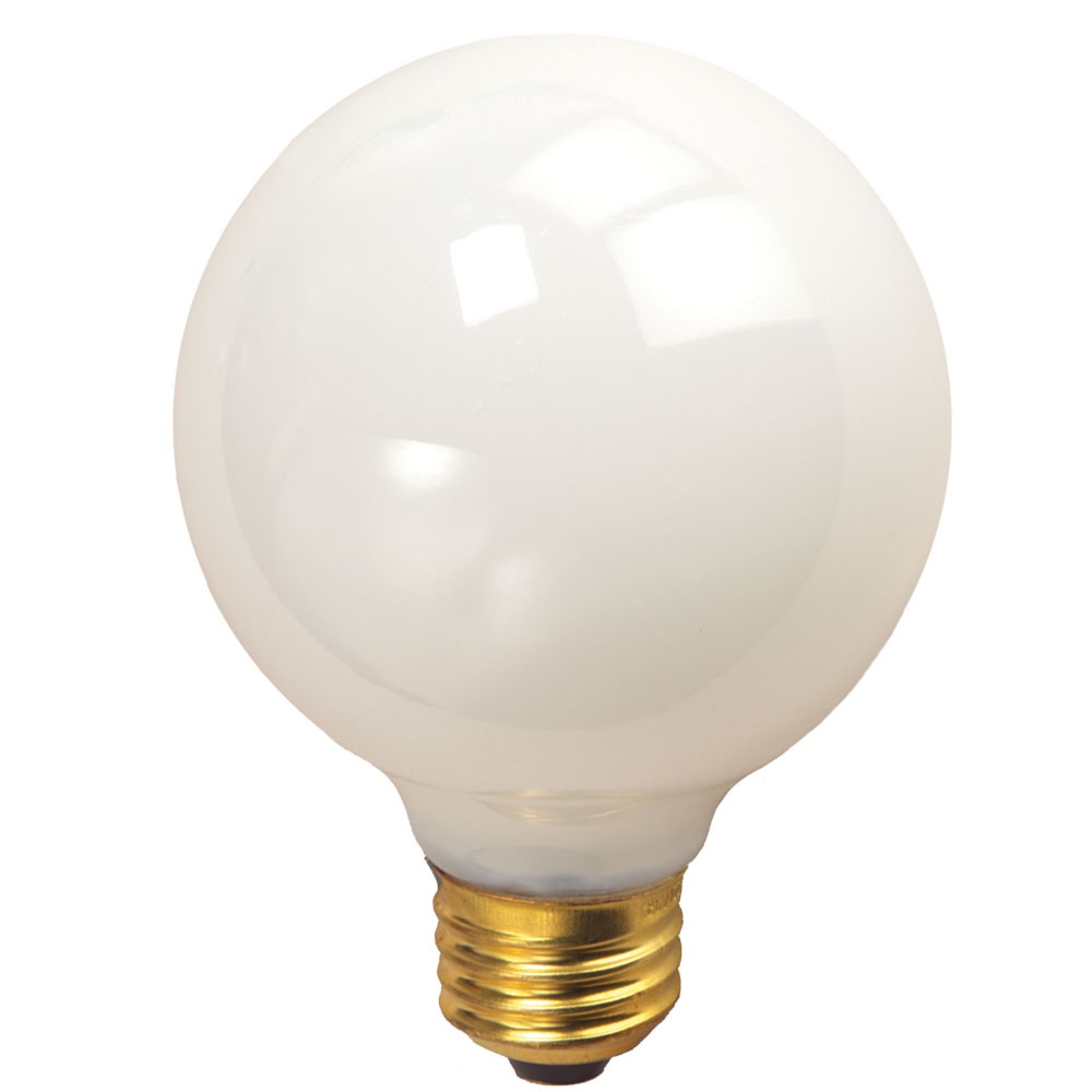 white medium base decorative globe light bulbs