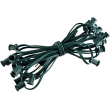 "25' Green Commercial C7 Light Strand - 12"" Spacing"