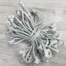 White Commercial C7 Light Strand - 50 Sockets AIS-50WH