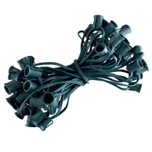 "50' C9 Light Stringer - SPT1 Green Wire - 12"" Spacing"