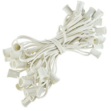 50' White Commercial C9 Light Strand