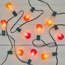 Multi Color Glass ST40 Edison Style Christmas Lights