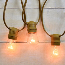 Outdoor Patio String Lights - 54' Brown Wire