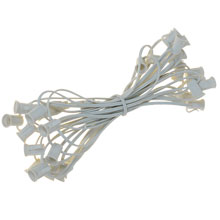 25' White Commercial C7 Light Strand