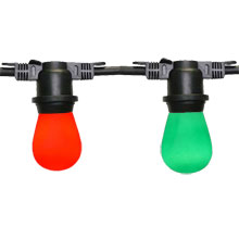 HollyBerry Festive String Light Kit - 48 ft Red & Green Light String