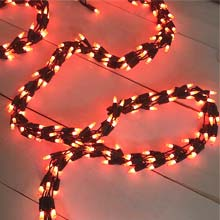 9 ft. Orange Garland String Lights - 300 Lights HOF-864806
