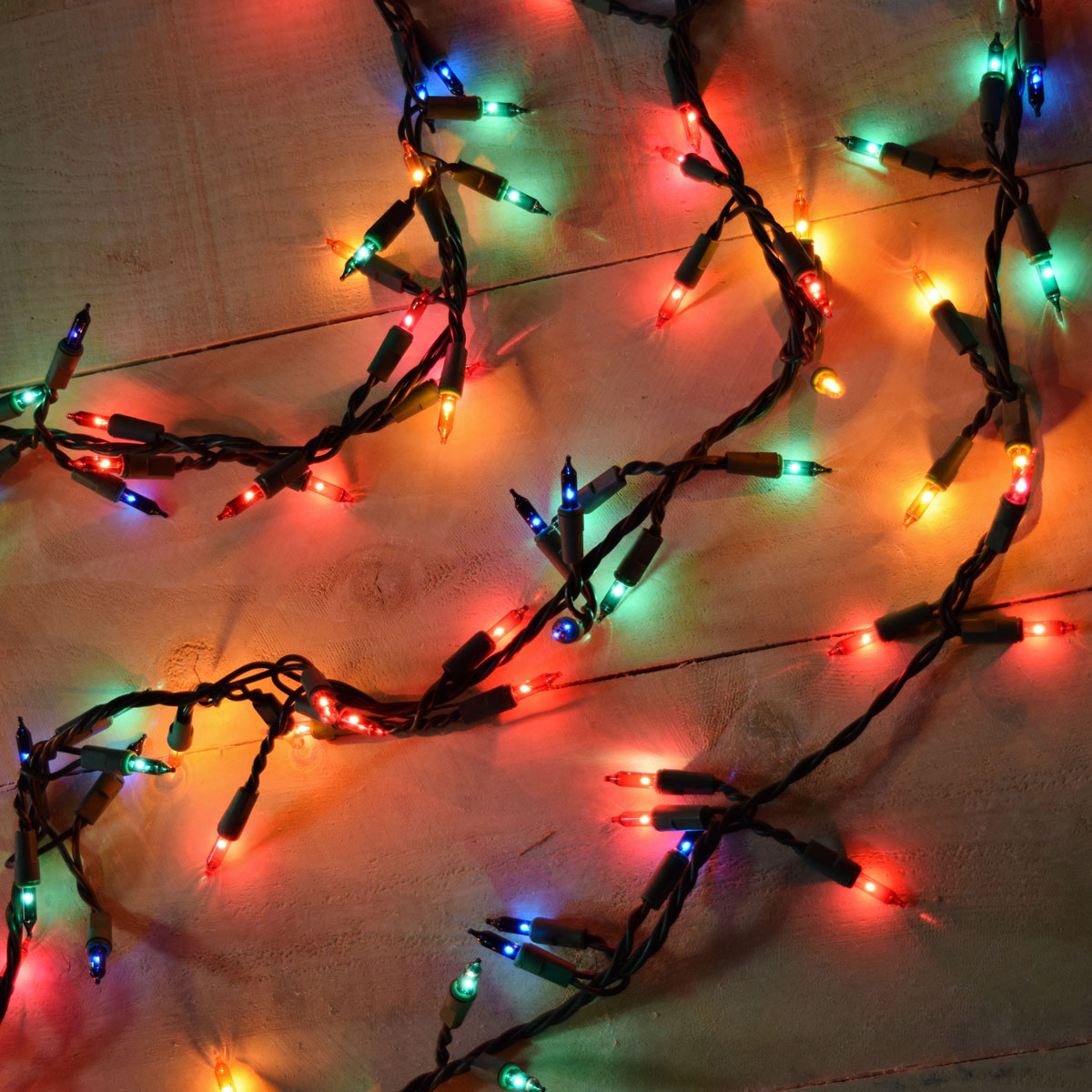garland style lights 300 count multi color - Decorating With Colored Christmas Lights