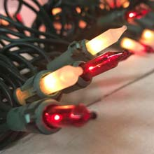 Red/Frosted Miniature String Lights - 100 Lights BS-46900