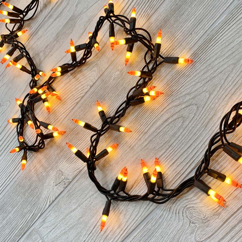 Candy Corn Cluster Lights - 150 Lights DR-620176