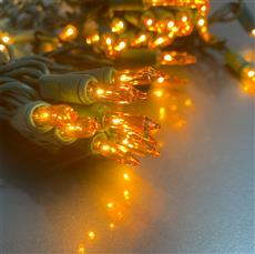 Golden Amber Mini String Lights