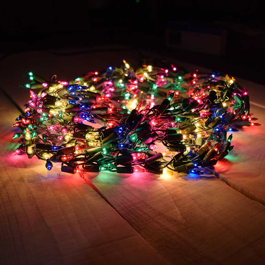 multi color garland lights