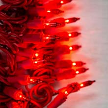 Red Miniature String Lights - Red Wire - 50 Count BS-82200