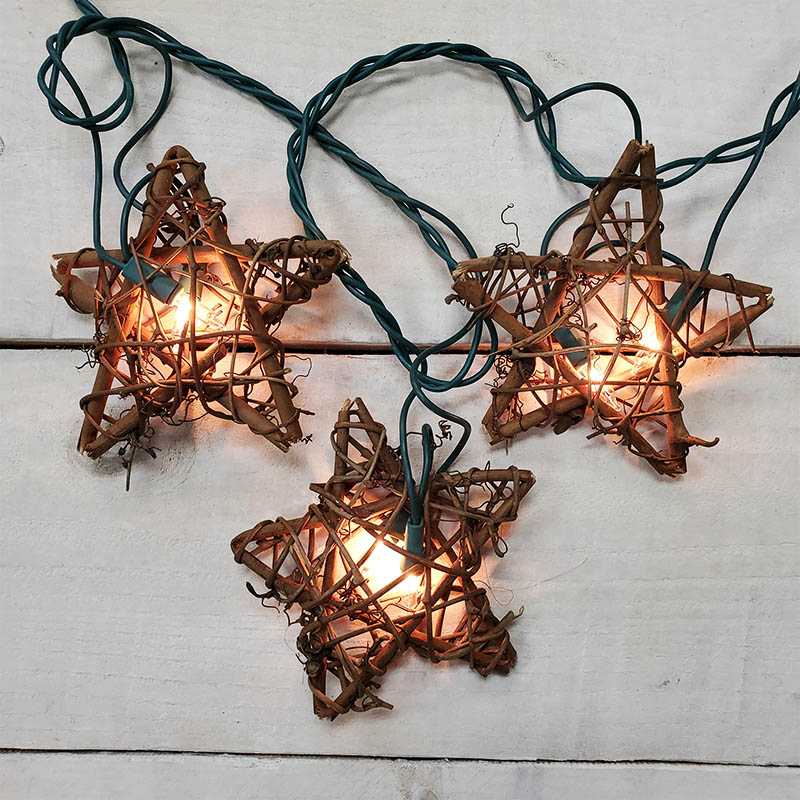 Rattan Star Party String Lights 10