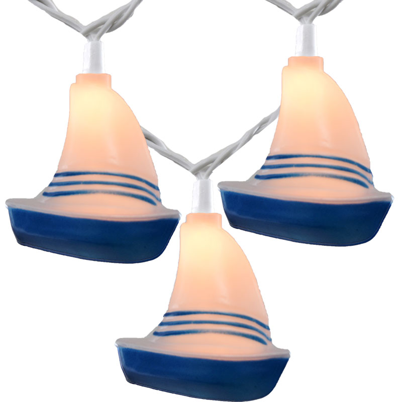 sailboat novelty string lights
