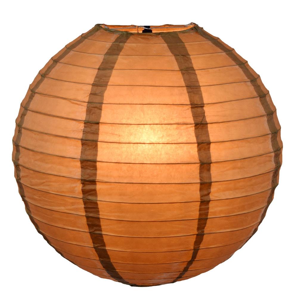 "Gold 12"" Round Rice Paper Lantern"