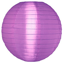 "Light Purple 14"" Round Nylon Lantern SH20"