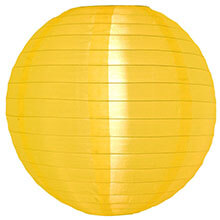 "Gold/Yellow 14"" Round Nylon Lantern SH12"