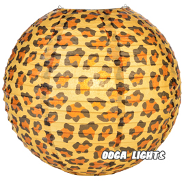 Leopard Spotted Paper Lantern - 14