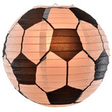 Soccer Ball Shaped Paper Lantern