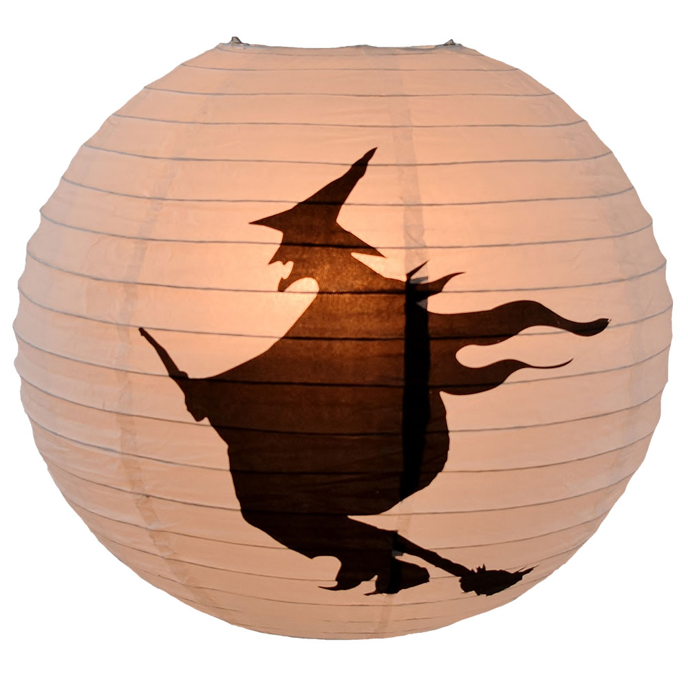 Flying Witch Paper Shade Lantern - 16