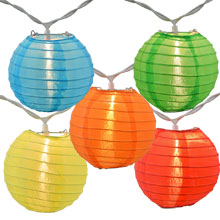 Multicolor Flatpack Nylon String Light Lanterns SH51F