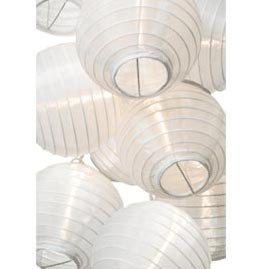 White Flatpack Nylon String Light Lanterns SH50F