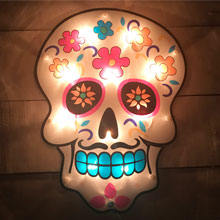 Day of the Dead Skull Window Light PD-230V117