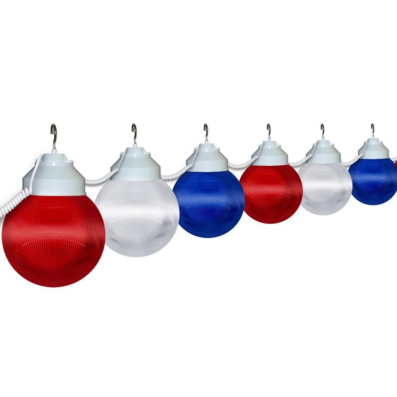 6 Quot Patriotic Globe String Light Set